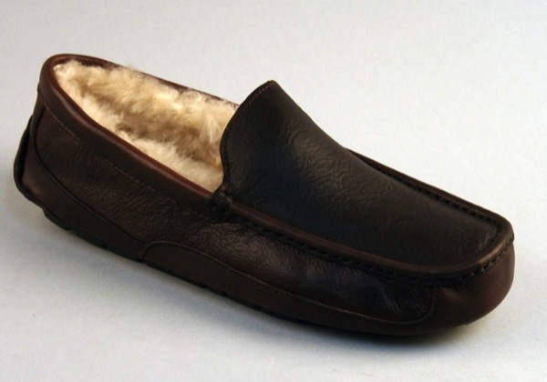 ugg australia men's ascot leather slippers