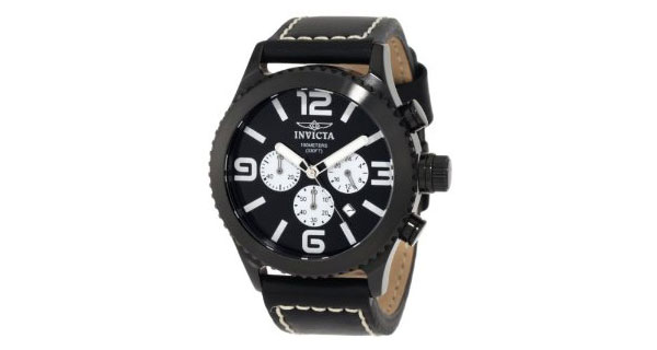 invicta-black-chronograph-watch