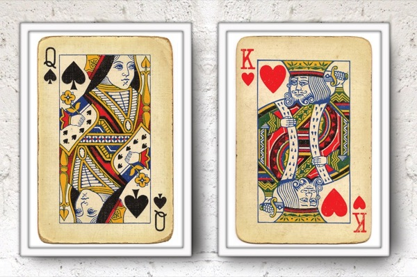 king-queen-playing-cards-posters
