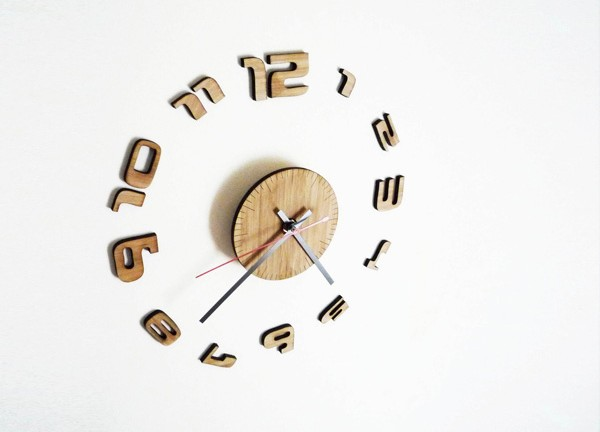 bamboo-wall-clock