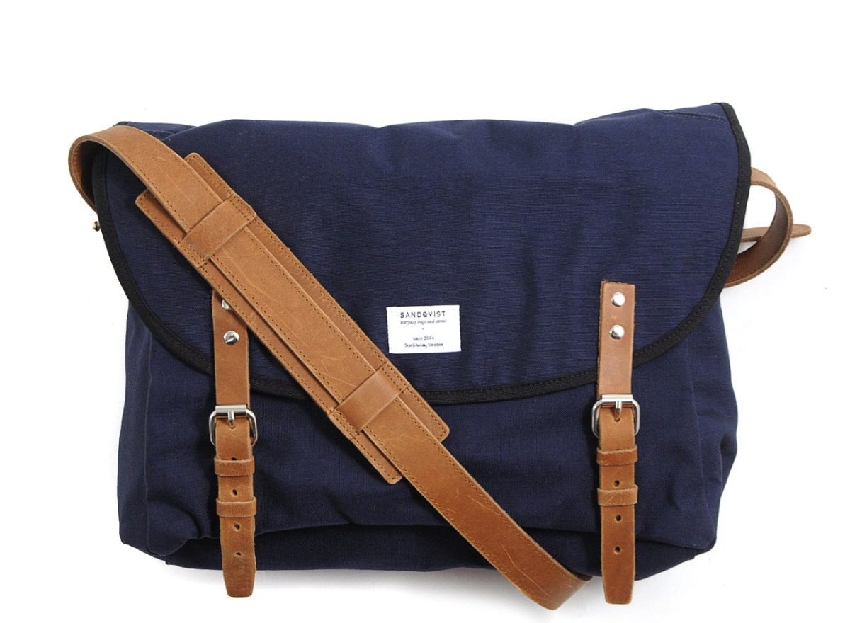 Sandqvist Erik Blue Messenger Bag — Tools and Toys