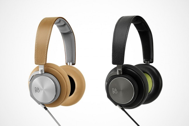 Bang & Olufsen's BeoPlay H6 headphones. ($388 for natural leather, $338 for black)