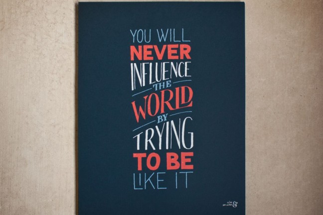 Influence the World print by Sean McCabe. ($32)