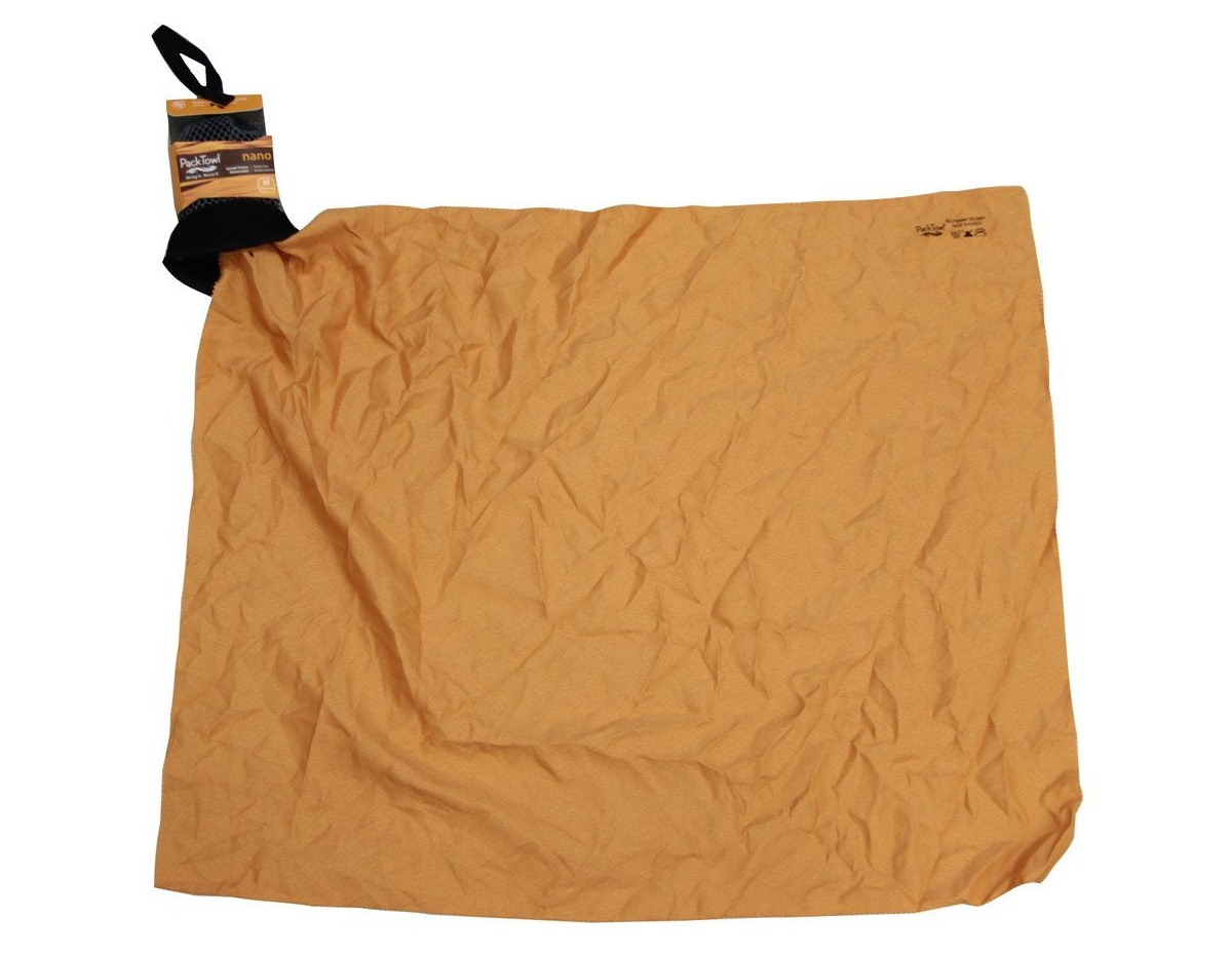 The Packtowl Nano Light Towel ($11 for medium size)