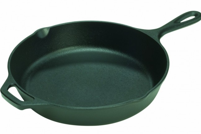 "Lodge's pre-seasoned 12"" cast iron skillet. ($29)"