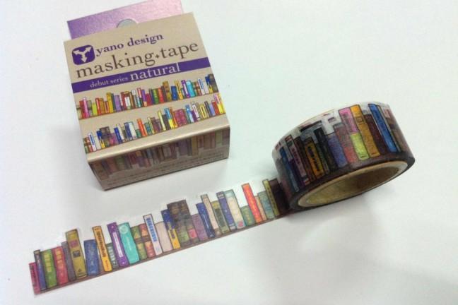 bookshelf-masking-tape