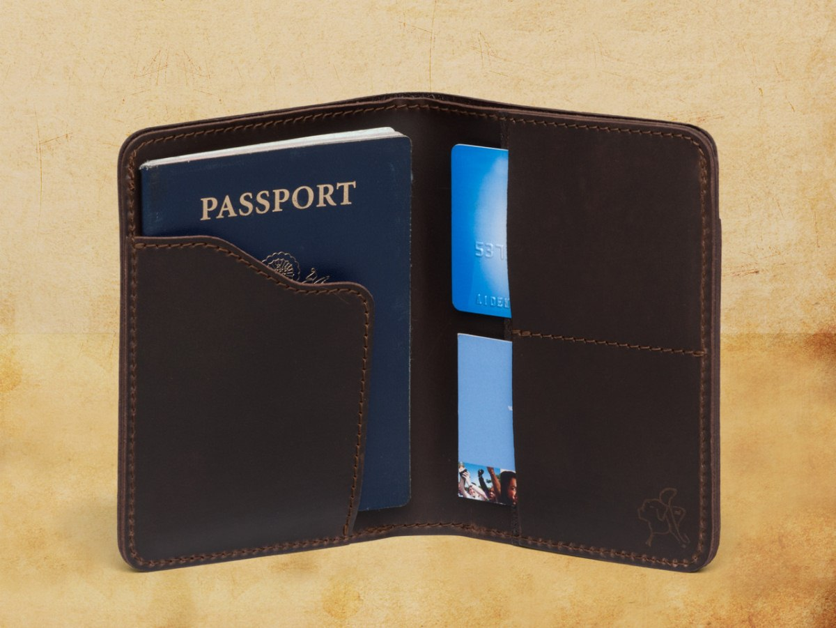 Saddleback Leather's passport wallet. ($70)