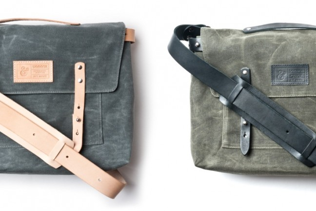 Ugmonk's waxed canvas messenger bags. ($235)