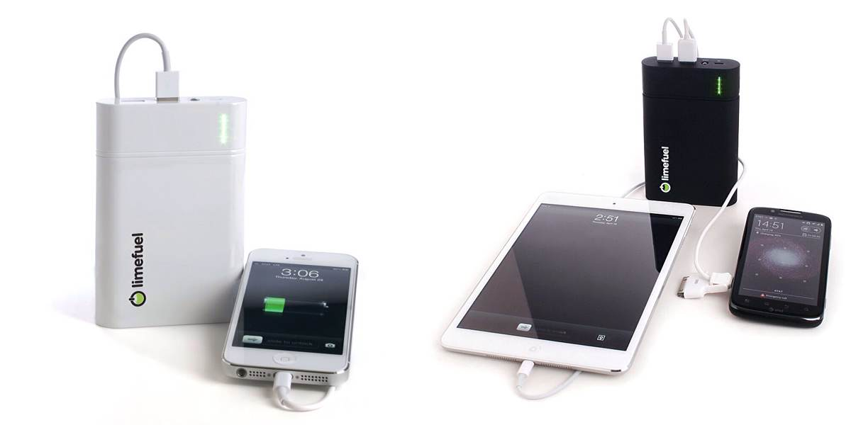 Limefuel Blast USB External Battery Pack. ($30 – $150, based on battery size)