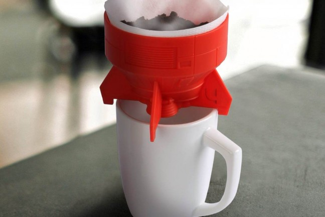 "GAMAGO's ""Rocket Fuel"" pour-over coffee brewer. ($8)"