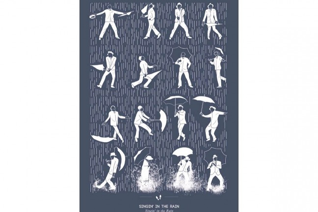Singin' in the Rain print by Niege Borges. ($17–$50 unframed, $34–$123 framed)