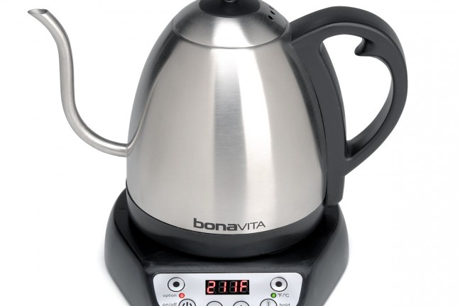 Bonavita's variable-temp gooseneck kettle. ($74)