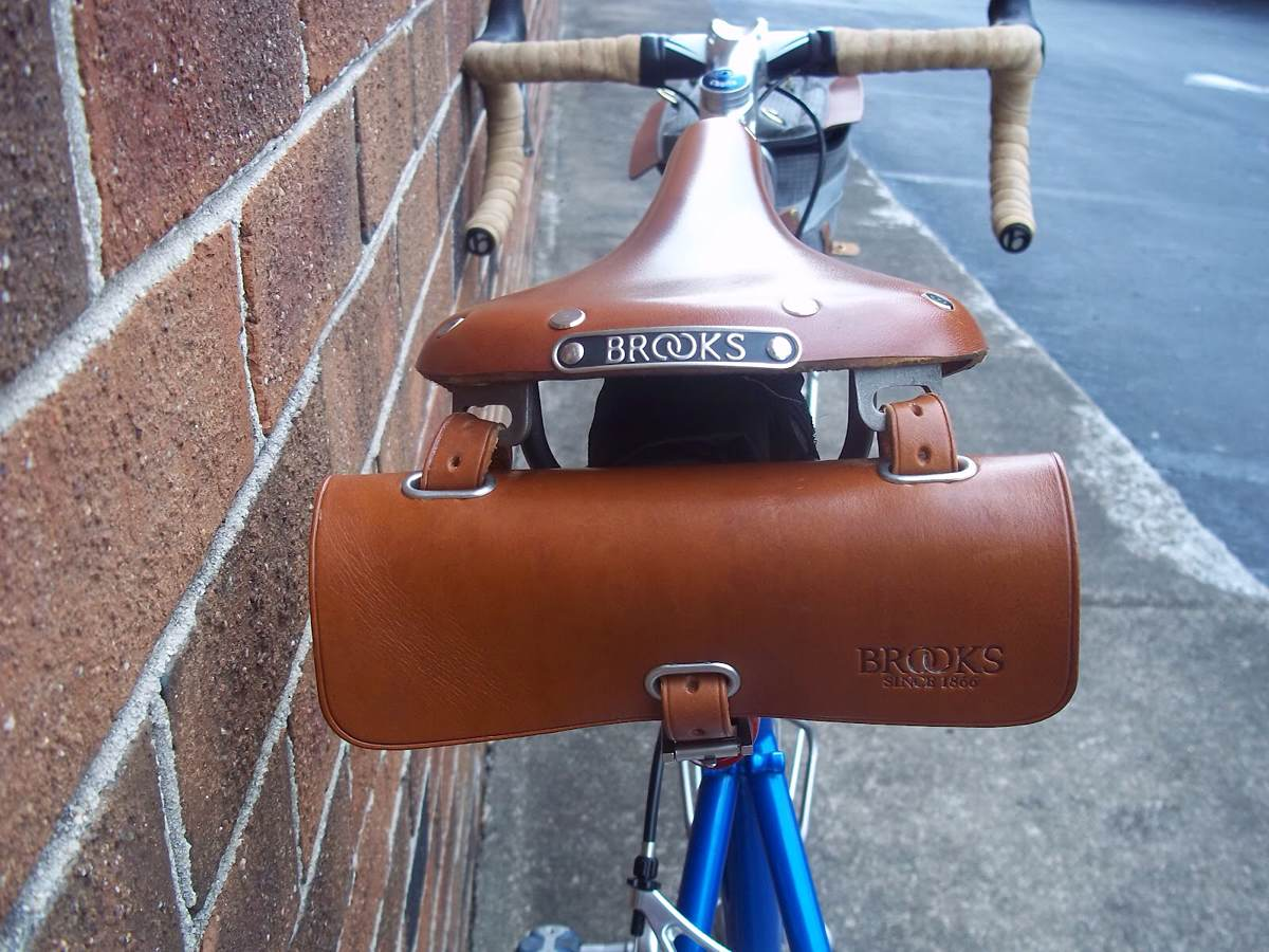 "Brooks Leather ""Challenge"" tool bag for cyclists. ($90)"