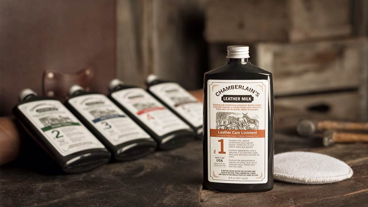 Chamberlain's Leather Milk. (Prices vary; individual bottles are ~$20)