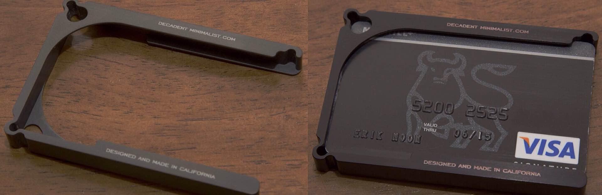 Decadent Minimalist One — Aluminum Wallet