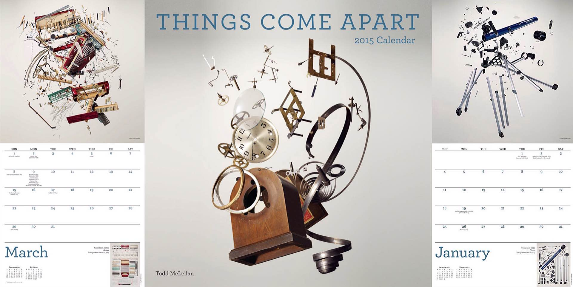 'Things Come Apart' 2015 Wall Calendar