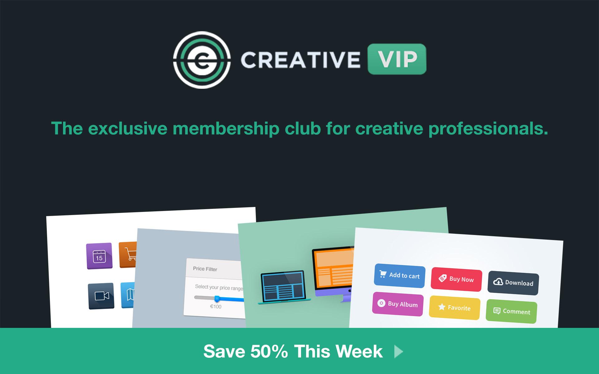 Save 50% on Creative VIP (Sponsor)