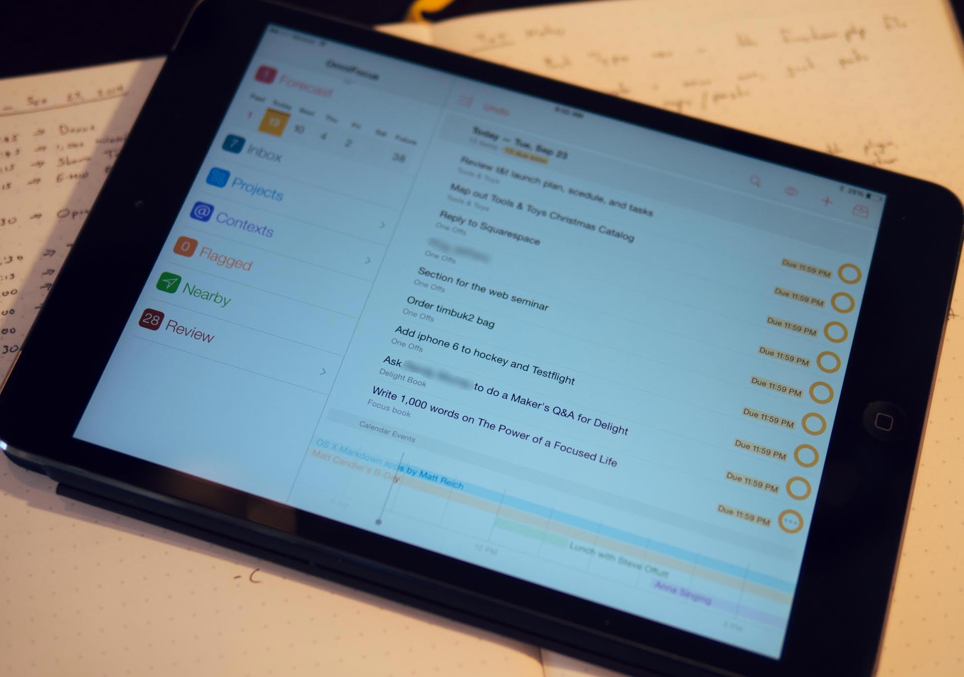 OmniFocus 2 for iPad
