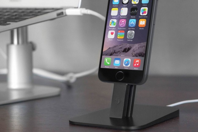 The HiRise dock/stand for iPhone 6 and 6 Plus. $35
