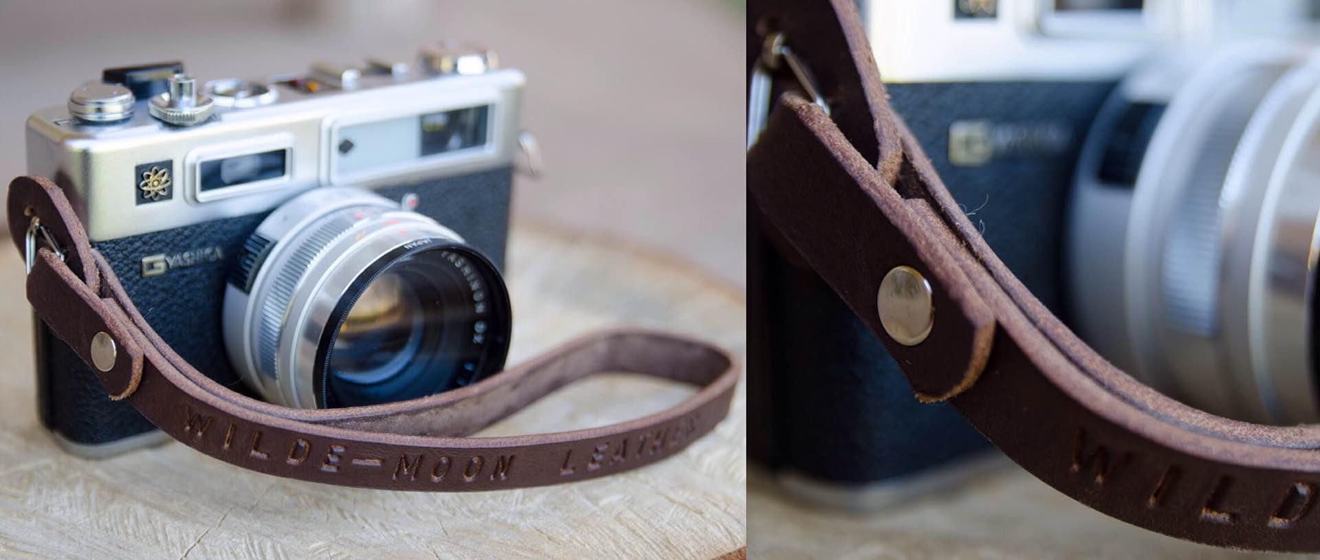WildeMoonLeather Camera Wrist Strap