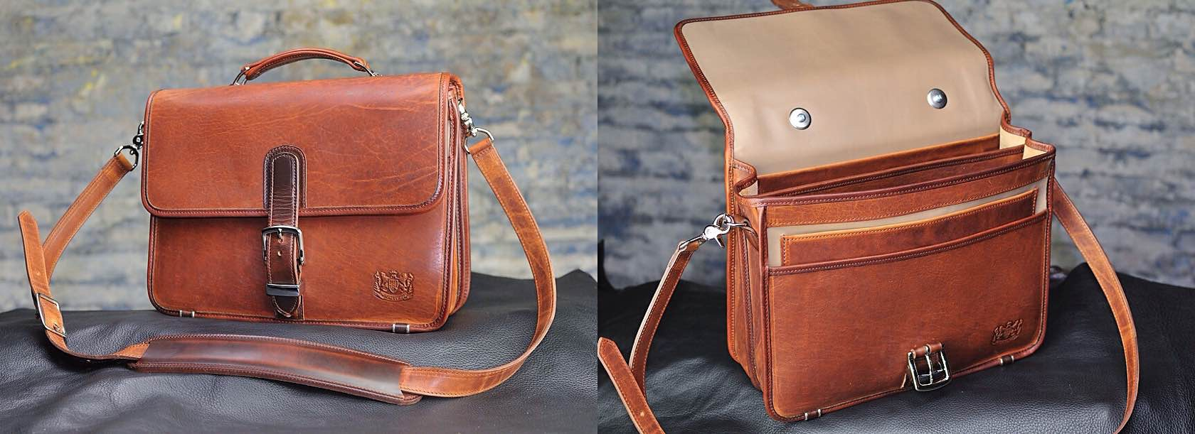 Mitchell Leather Compact Classic Briefcase