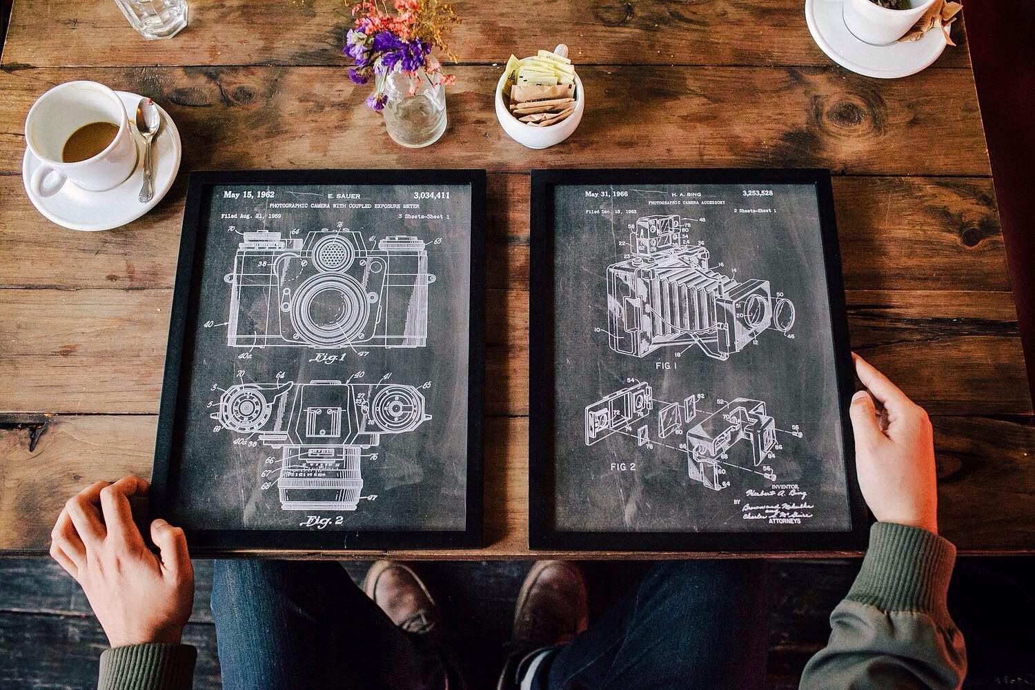 PatentPrints' camera patent posters on Etsy. ($6–$40, depending on size and frame)Photo: Jorge Quinteros