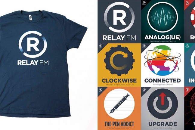 Relay.fm's merch store. Prices vary.