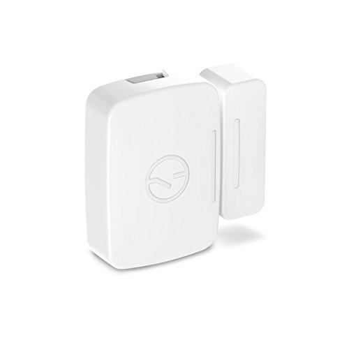 Use the [Samsung SmartThings Multi-Purpose Sensor](https://www.amazon.com/Samsung-SmartThings-F-SS-MULT-001-F-MLT-US-2-Multipurpose/dp/B0118RQW3W?camp=2025&creative=165953&SubscriptionId=AKIAJ7T5BOVUVRD2EFYQ&creativeASIN=B0118RQW3W&linkCode=xm2&tag=toolstoysdeals-20) to detect whether doors are open or closed, or if there has been a break-in in your smart home.
