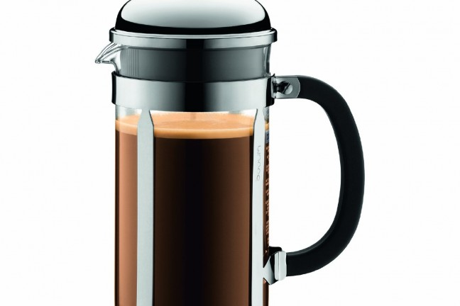 The highly rated and highly reviewed [Bodum Chambord French Press](http://www.amazon.com/dp/B00008XEWG/ref=gbps_img_s-3_8062_777cc0b2?pf_rd_m=ATVPDKIKX0DER&pf_rd_i=gb_main&pf_rd_t=701&pf_rd_s=slot-3&pf_rd_r=00N2J16BHTZ6R4NGVZM0&tag=toolsandtoys-20&pf_rd_p=2449568062&smid=ATVPDKIKX0DER) isn't down to its lowest price ever, but its still a good deal.