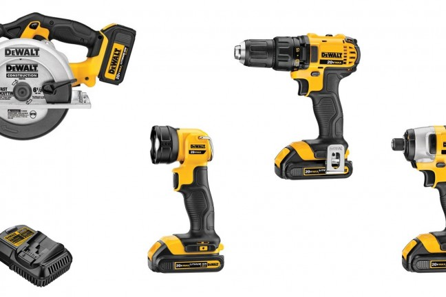 The Dewalt 4-Tool Combo kit. Save $200 off the street price and get some power tool staples.