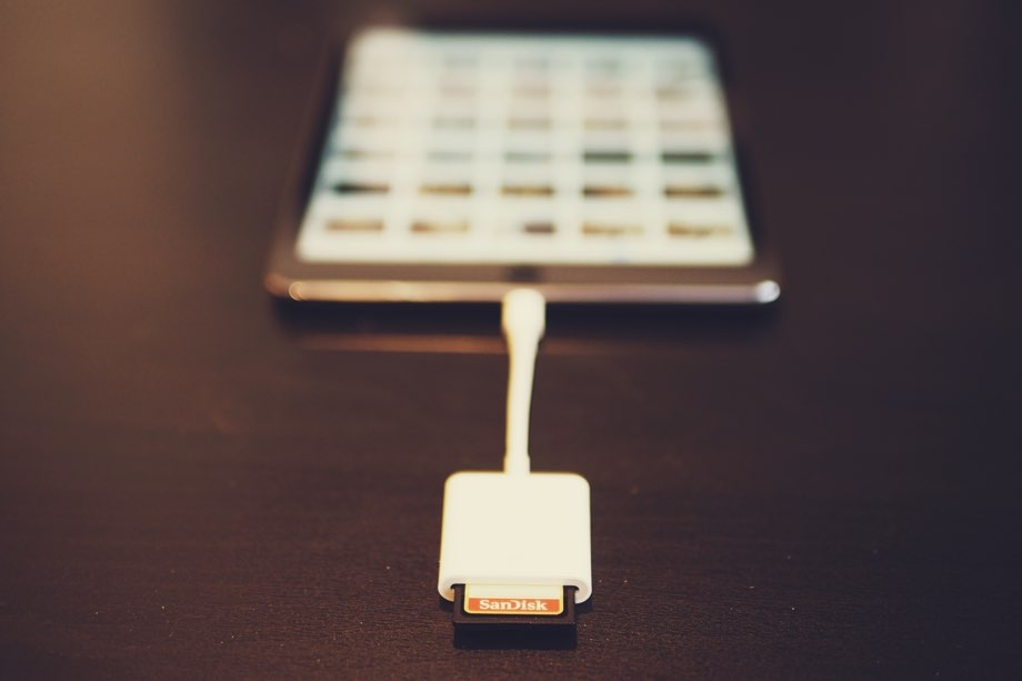 Apple's Lightning to SD card adapter ($34)