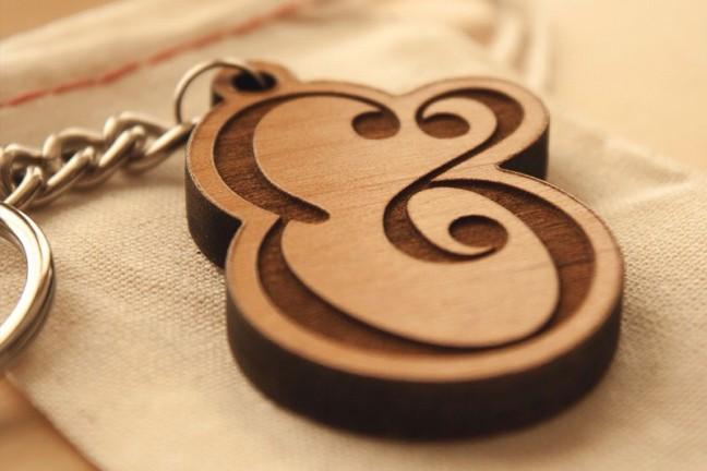 seanwes-wooden-ampersand-keychain