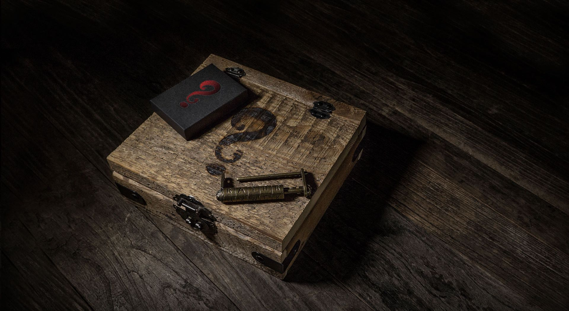 Mystery Box Black Edition playing card set. ($150 with lockbox, $10 for deck alone)