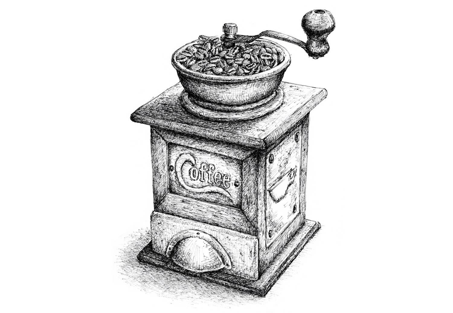 Coffee Grinder Drawling ~ Coffee grinders we recommend — tools and toys