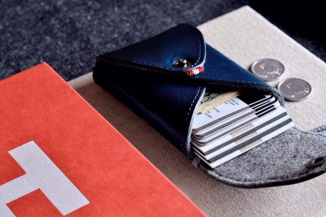 "Hard Graft's ""Ocean"" Box Card Case. (~$76 USD)"