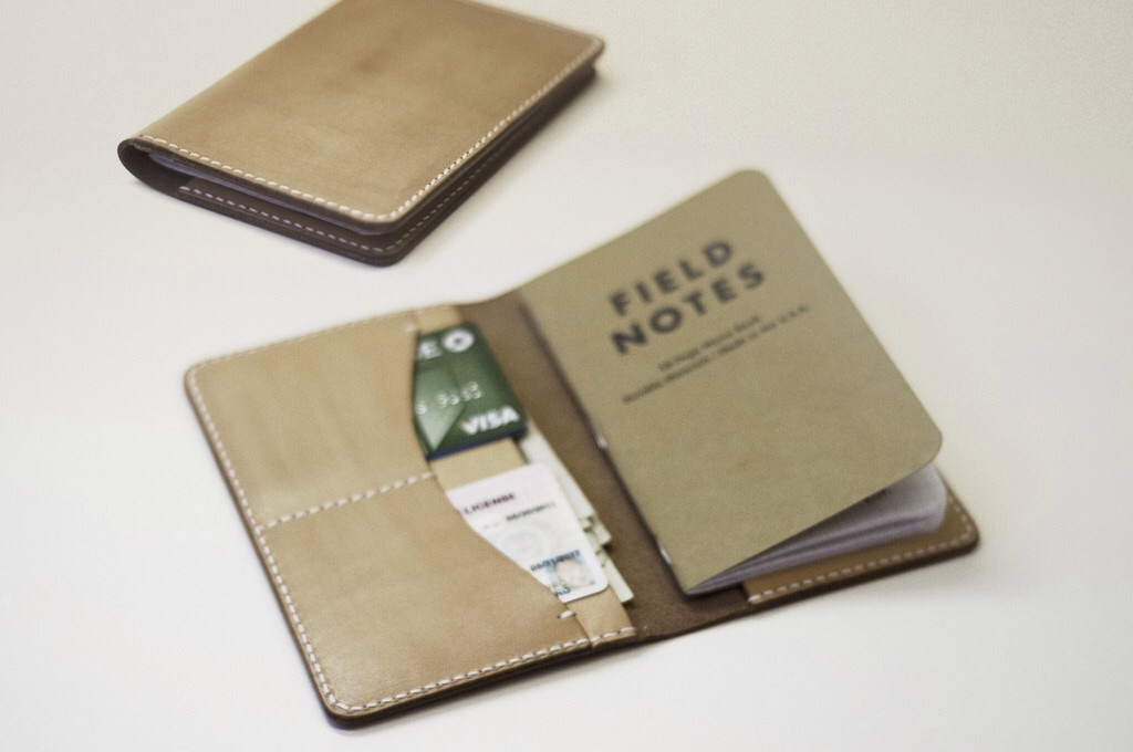 Kendal & Hyde's leather notebook wallet. ($75)
