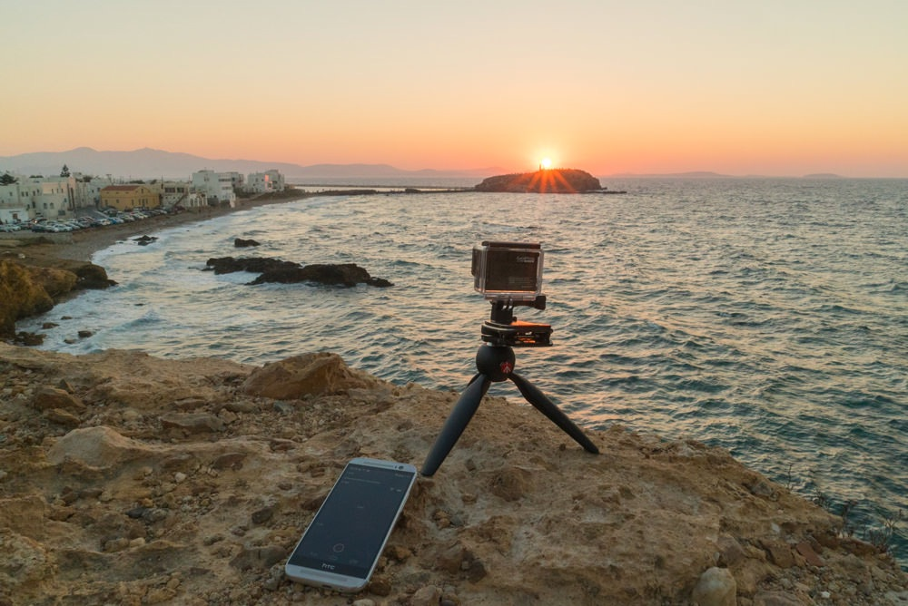 Paul Stamatiou's GoPro Hero 4 Silver capturing The Portara — the only remaining piece of Apollo's Temple — on the Greek island of Naxos.