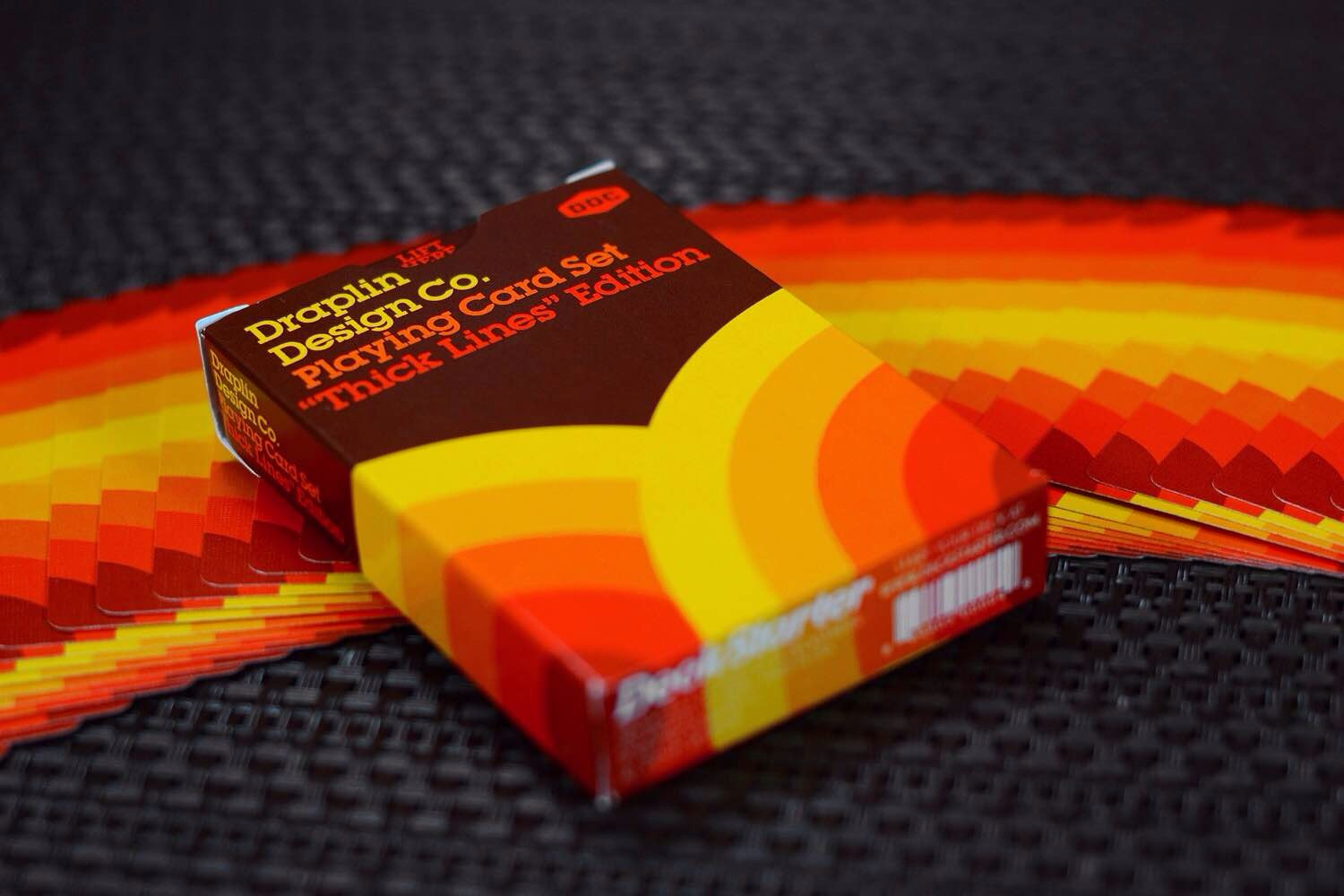 "Draplin Design Co's ""Thick Lines"" playing card set."