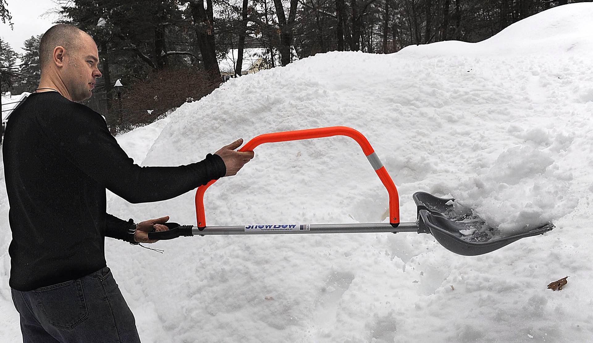 The SnowBow snow shovel. ($40)