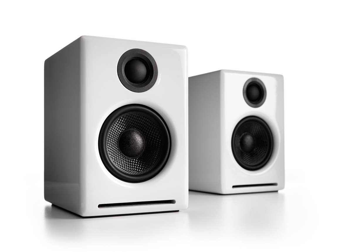 Audioengine A2+ speakers, available in black or white. ($250)