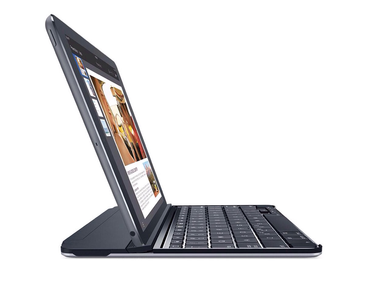 Logitech Ultrathin Magnetic Clip-On Keyboard Cover. ($49–$90, depending on model and color)