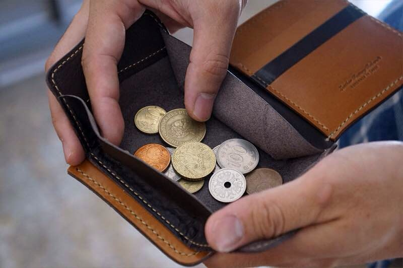 The Short Wallet's coin pouch.