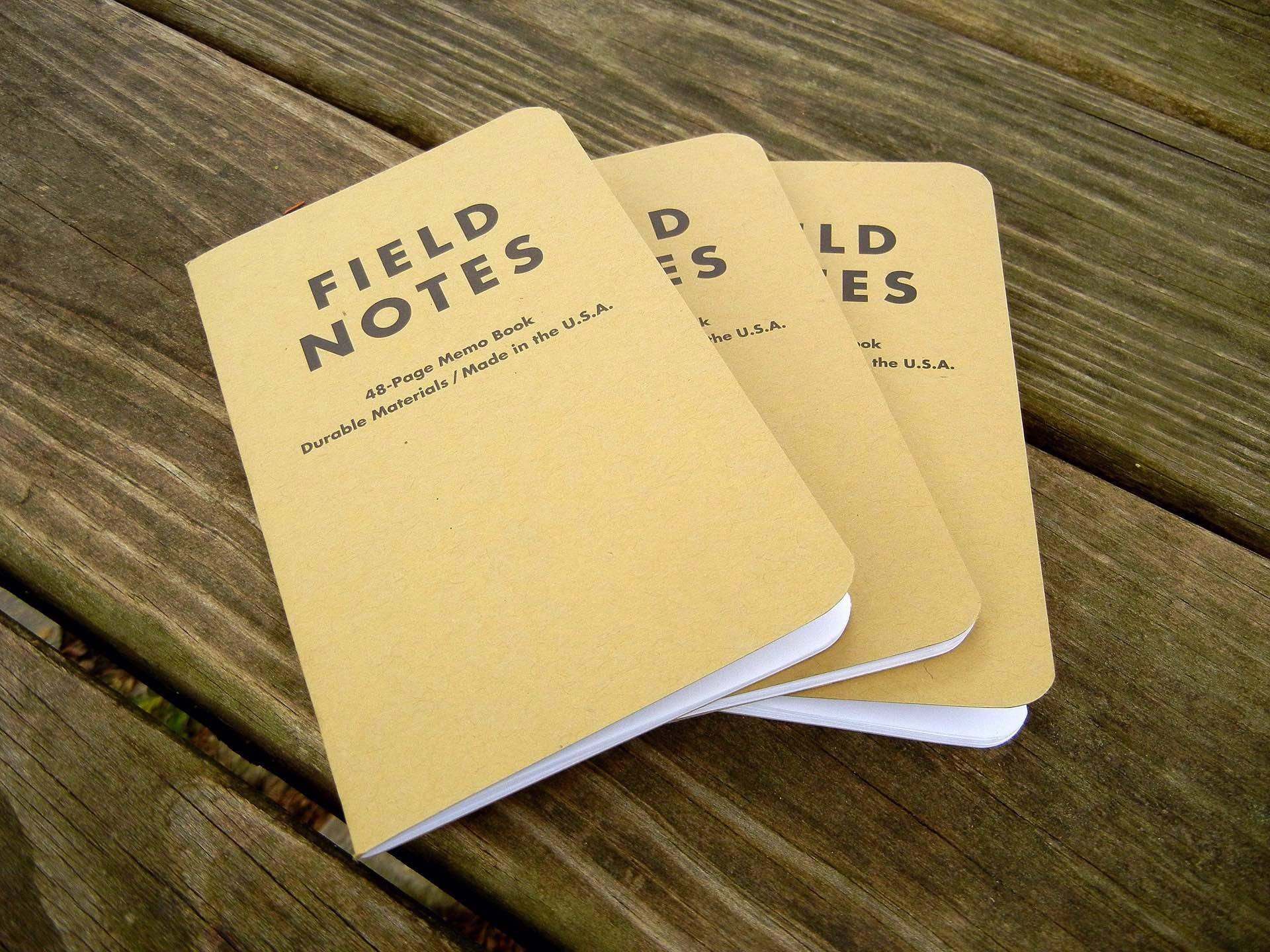 Field Notes memo books. ($10 per 3-pack)Photo: Nick Yoder