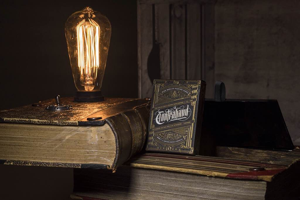 Theory 11's Contraband playing cards ($150 with Book Lamp, $8 for deck alone)