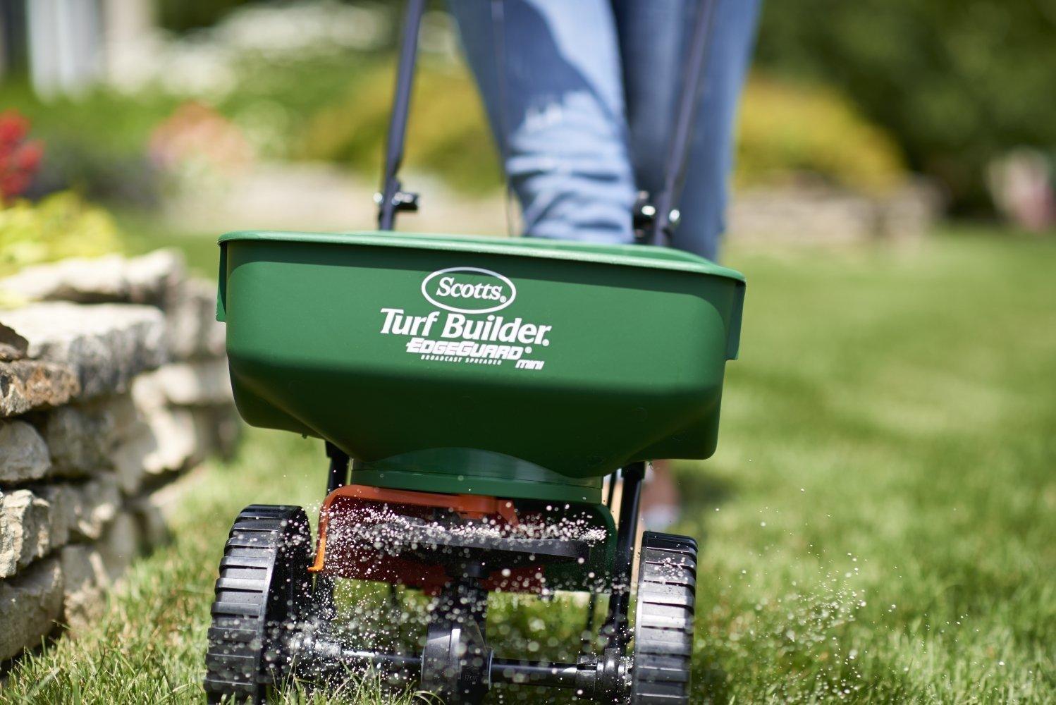 A good [seed spreader](http://www.amazon.com/Scotts-76121-Turf-Builder-EdgeGuard/dp/B002YPS1KK?tag=toolsandtoys-20) is foundational for any healthy lawn