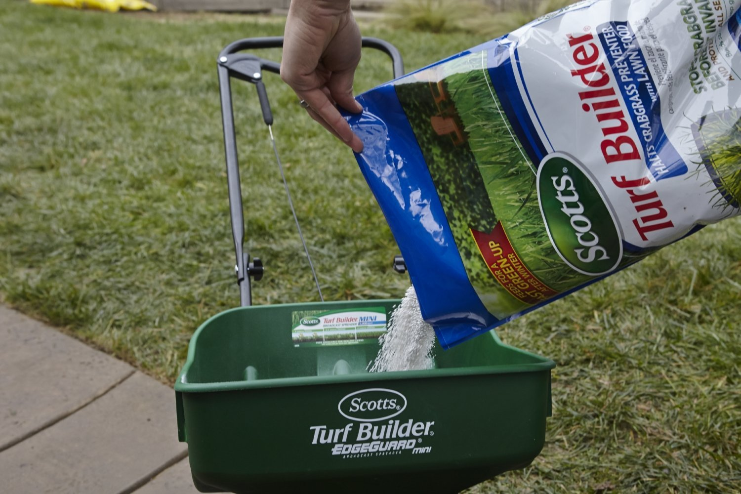 You'll want to apply this Crabgrass Preventer product in early spring.