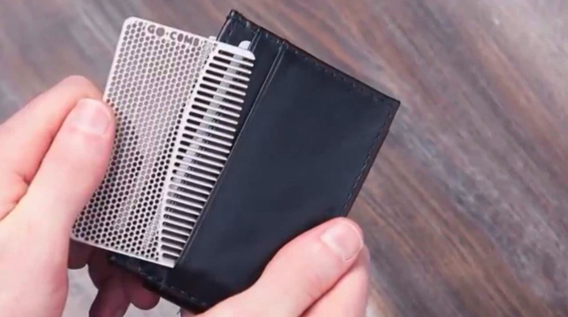 The Go-Comb wallet-sized comb. ($9–$16, depending on color)
