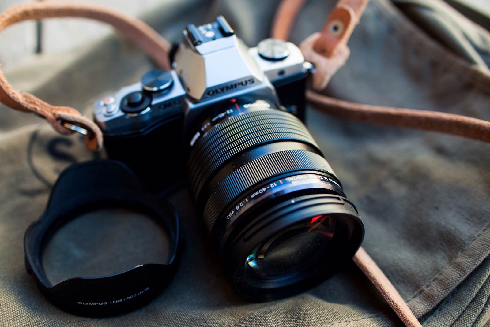 The Olympus 12-40mm f/2.8 zoom lens, attached to an Olympus E-M5. ($999)Photo: Chris Gampat, The Phoblographer