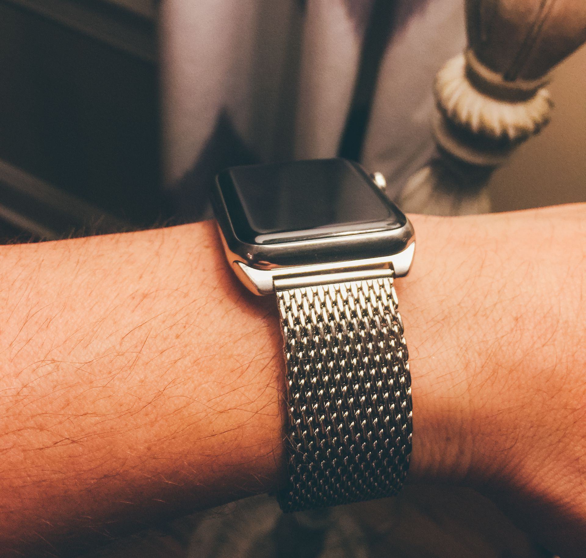 The mesh metal is similar to Apple's Milanese Loop.
