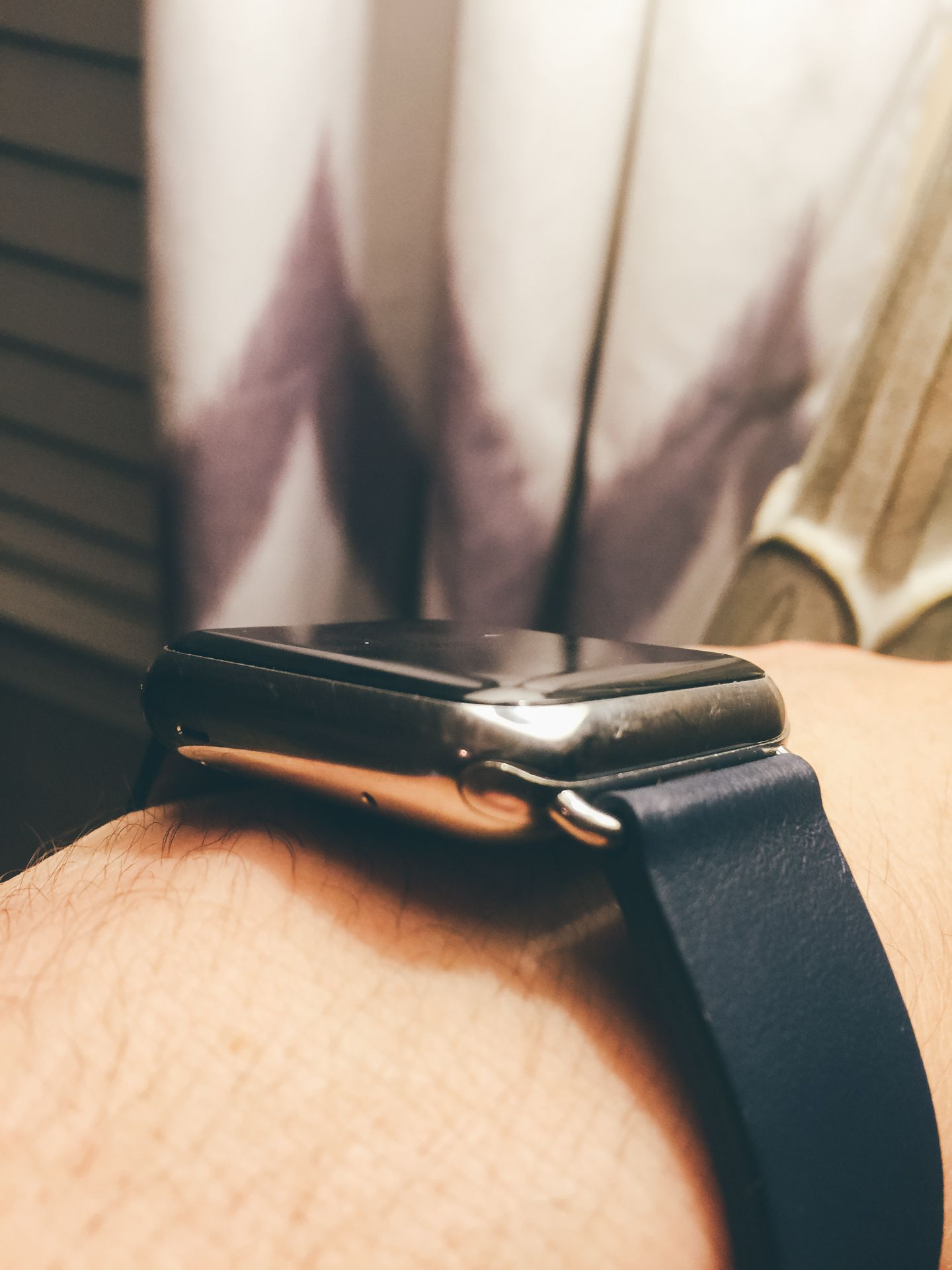 The leather band is extremely comfortable and comes in multiple colors.